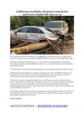 California mudslide- Rescuers search for survivors; death toll rises to 19.pdf