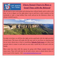 Uluru Sunset Tours to Have a Good Time with the Beloved.pdf