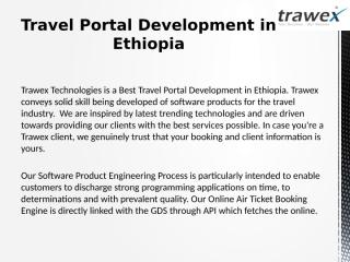 Travel Portal Development in Ethiopia.pptx