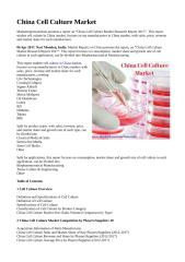 China Cell Culture Market.doc