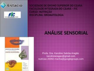 Analise Sensorial.ppt