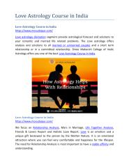 Love Astrology Course in India.pdf