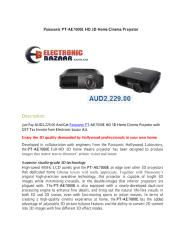 Panasonic PT-AE7000E HD 3D Home Cinema Projector.pdf