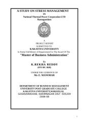 A Study on Stress Management.doc